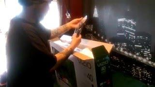 Vizio 40in 40u-d1 4k tv quick unboxing