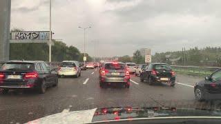 Nubifragio Milano, traffico in tilt: lunghe code in ingresso zona sud