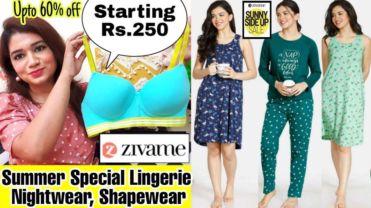 👙Latest Zivame Haul👙Summer Special😁Lingerie,Nightwear, Shapewear etc😍 Upto 60% Off👙Pink's House