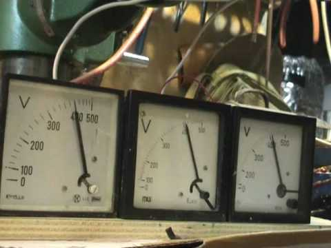 230 Volts 1 phase to 400 Volts 3 phase rotary converter - YouTube
