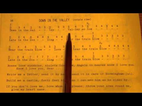 Dulcimer Songbag 3b: Reading the tablature, triple time.