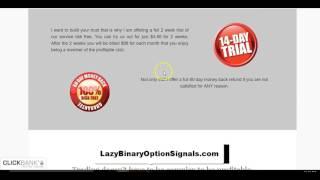 Lazy Binary Option Signals