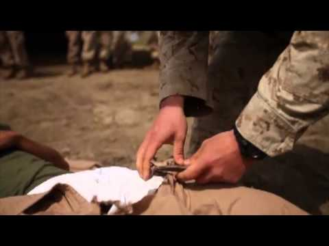 Marines, Corpsmen Take Care of Casualties