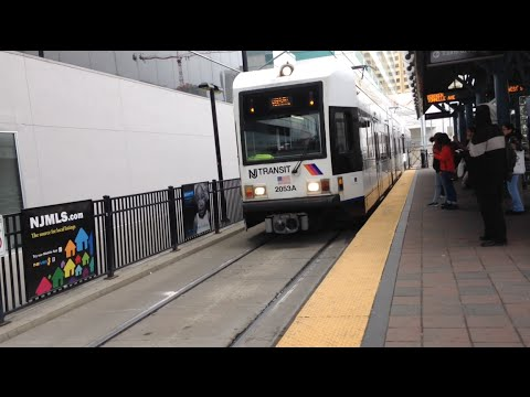 Jersey City, New Jersey - Hudson–Bergen Light Rail  at the Pavonia-Newport Station HD (2016)