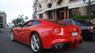 AWESOME Ferrari F12 Berlinetta INVASION in Monaco! SIGHTS and Sounds! (1080p Full HD)