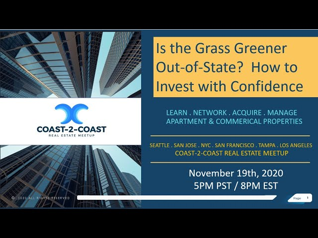 Coast-2-Coast Webinar: Is Grass Greener Out of State?