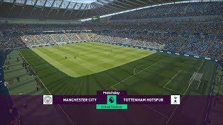 Manchester City vs Tottenham - Etihad Stadium - 2018-19 Premier League - PES 2019
