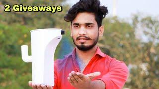automatic hand sanitizer machine कैसे बनाये || 2 Giveaways || Mr. Dharoniya
