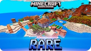 Minecraft PE Seeds - RARE SEED! Stronghold + 5 Villages + 2 Desert Temples! MCPE 0.15.0 / 0.14