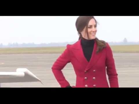 Kate shows off flying skills during RAF base visit in Wittering