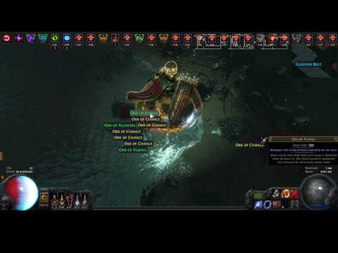 The 250 chaos currency shaped strand run