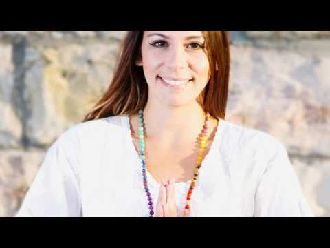 Chakra Balancing Mala Beads made with real healing crystals
