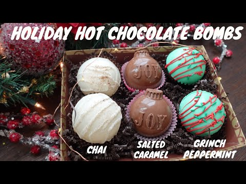 Hot Chocolate Bombs for the Holidays