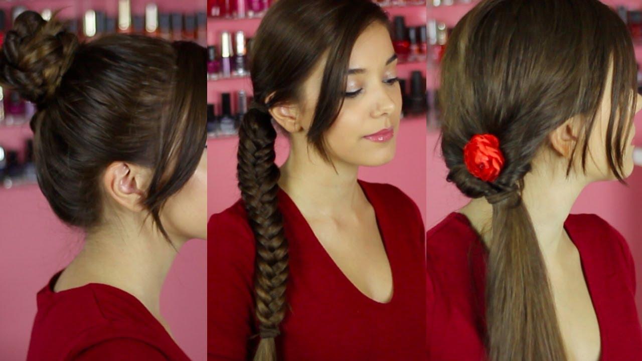 Pettinature facili e veloci per capelli medi