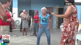 Salsa dancing granny's got moves