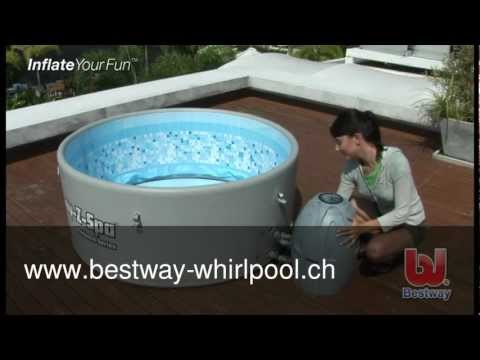 lay z spa platinum whirlpool youtube. Black Bedroom Furniture Sets. Home Design Ideas