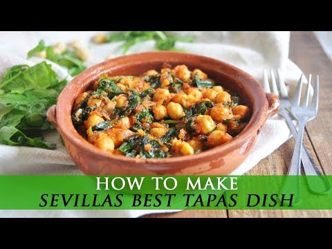 Spanish Spinach and Chickpeas - Espinacas con Garbanzos Recipe