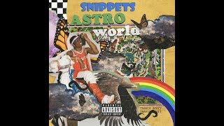 Travi$ Scott Astroworld all Snippets *NEW*