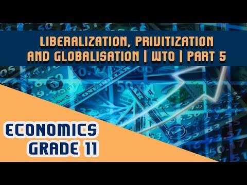 Economics Chapter 3 | Part 5 | Liberalization, Privitization and Globalisation - WTO