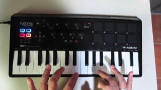 M-Audio Axiom Air 32 mini Beatmaking Performance!