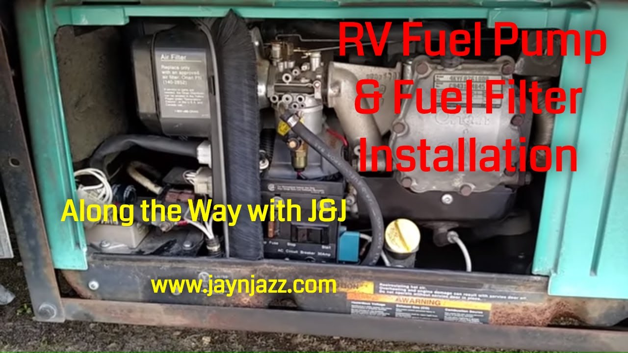 Installing New Fuel Pump & Filter on Onan Generator - YouTube