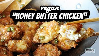 VEGAN HONEY BUTTER CHICKEN RECIPE (gluten-free!) | Mary