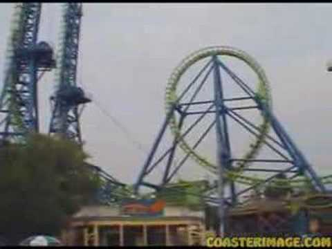 Deja Vu All Over Again >> Déjà Vu Roller Coaster at Six Flags Great America - YouTube