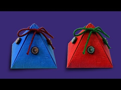 Easy Origami Handmade Paper Gift  Box | DIY Paper Crafts | AMAZING NEW YEAR'S GIFT WRAPPING IDEAS