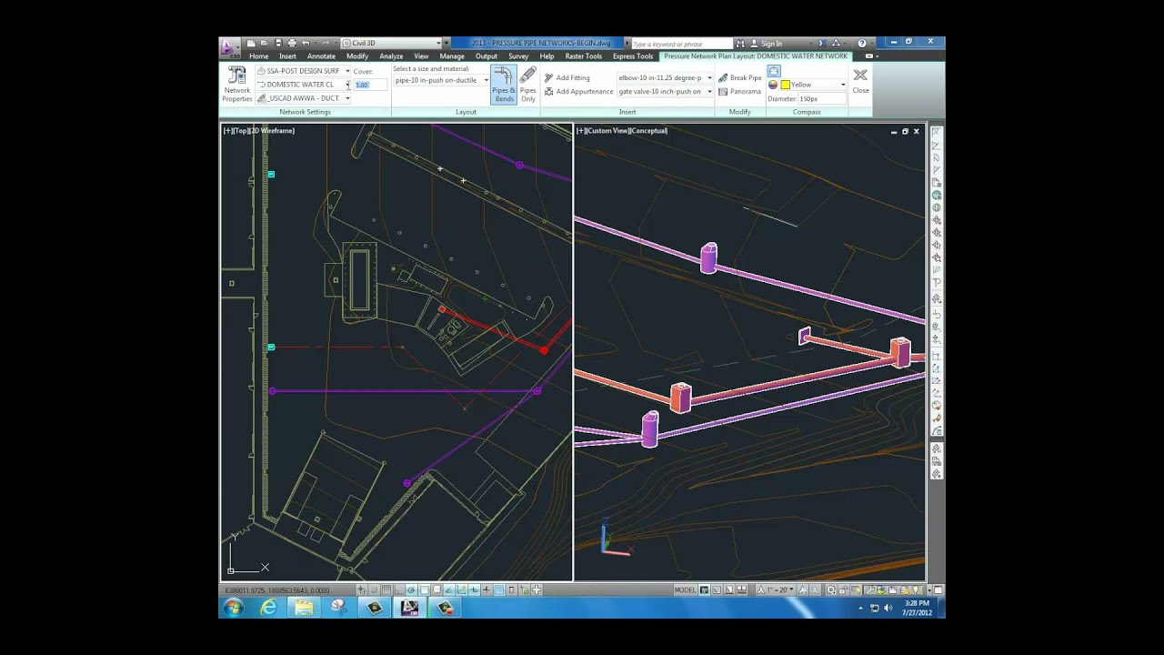 Pressure Pipe Networks - What's New in Civil 3D