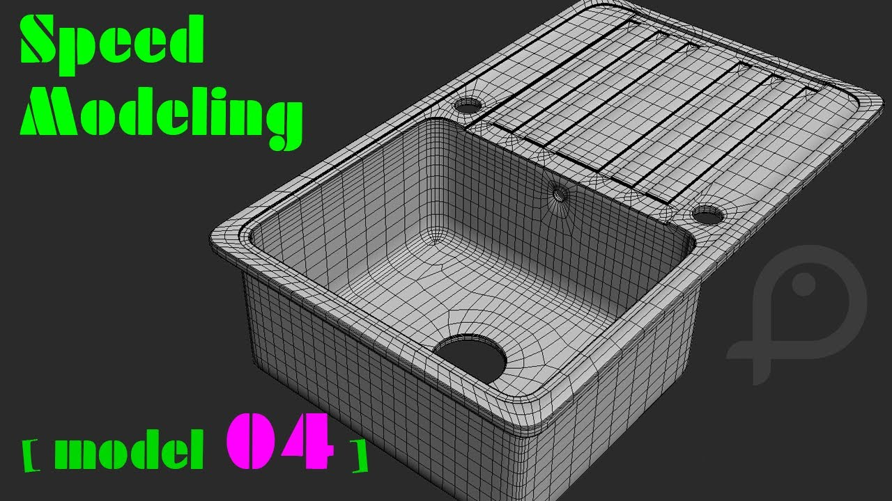 speed modeling kitchen sink in 3ds max model 04 - Kitchen Sink Models