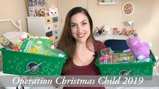 What's in my Operation Christmas Child Shoeboxes 2019