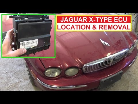 Jaguar X-Type ECU Engine Computer Location Removal and Replacement