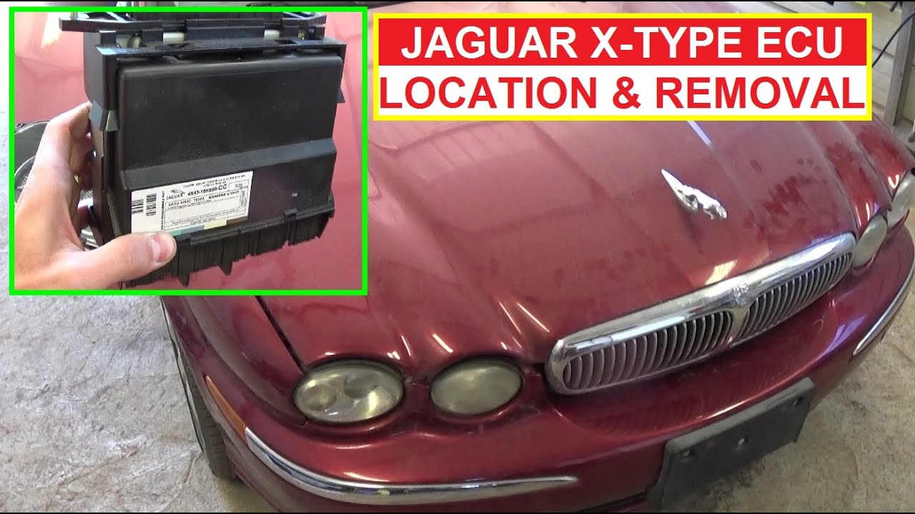 Jaguar XType ECU Engine Computer Location Removal and Replacement  YouTube