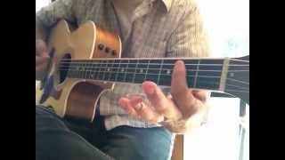 How to play Lay Down Sally by Eric Clapton on 1 guitar