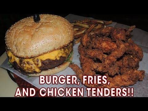 BIG DADDY BURGER & Chicken Tenders Challenge!!