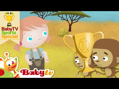 Run in a Race with Zoe and the Animals | BabyTV Sports Special