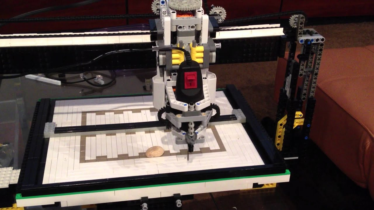 Lego Cnc Machine Part 1 Youtube