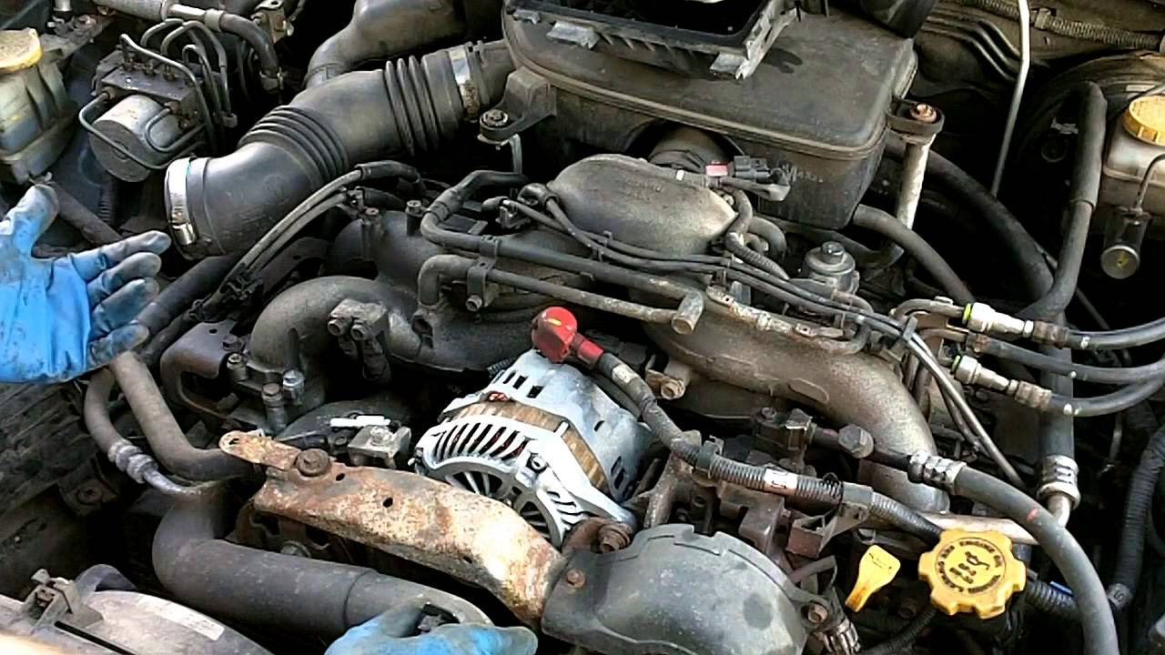 how to 2005 subaru outback plugs and wires youtube nissan altima 25 engine diagram subaru 25 engine diagram