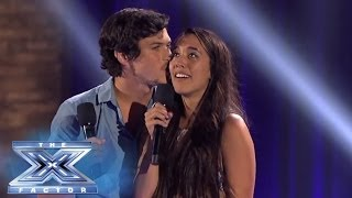 Repeat youtube video Alex & Sierra Knows Grease Is The Word - THE X FACTOR USA 2013