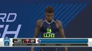 Odell dominate the 40 yard dash