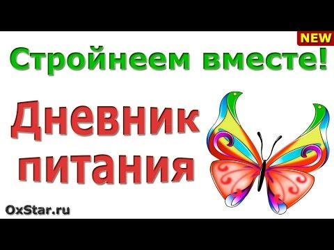 Дневник питания и тренировок - Здоровая Россия