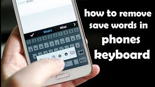 How to remove saved words in keyboard