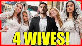 Walking with 4 Wives in New York City