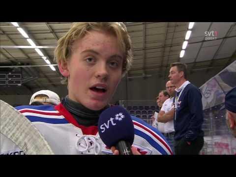 Ishockey TVpucken 04 11 2016 Anton Larsson go crazy