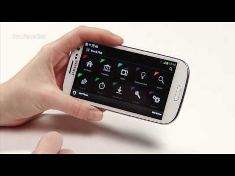 Samsung Galaxy S3: Music Hub Hands-on Video