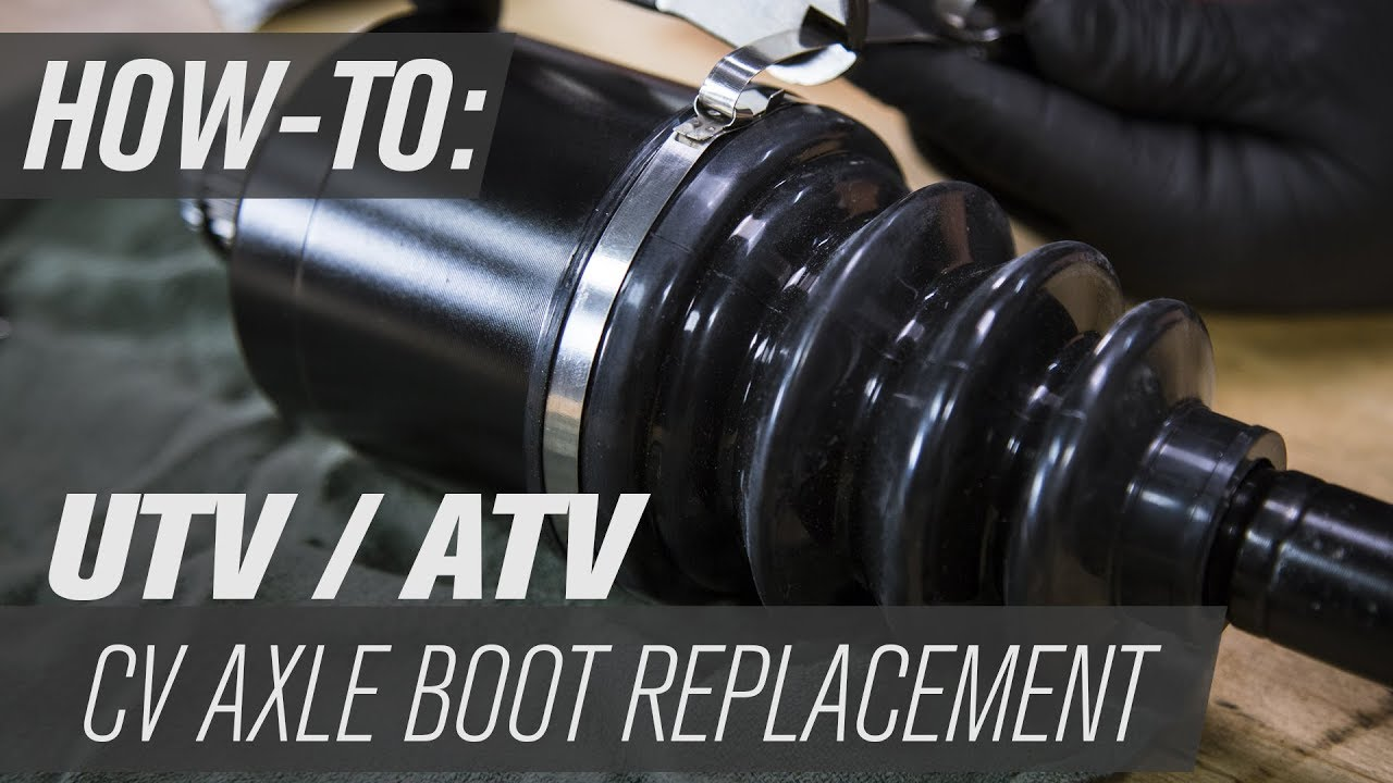 how to replace a utv  atv cv axle boot