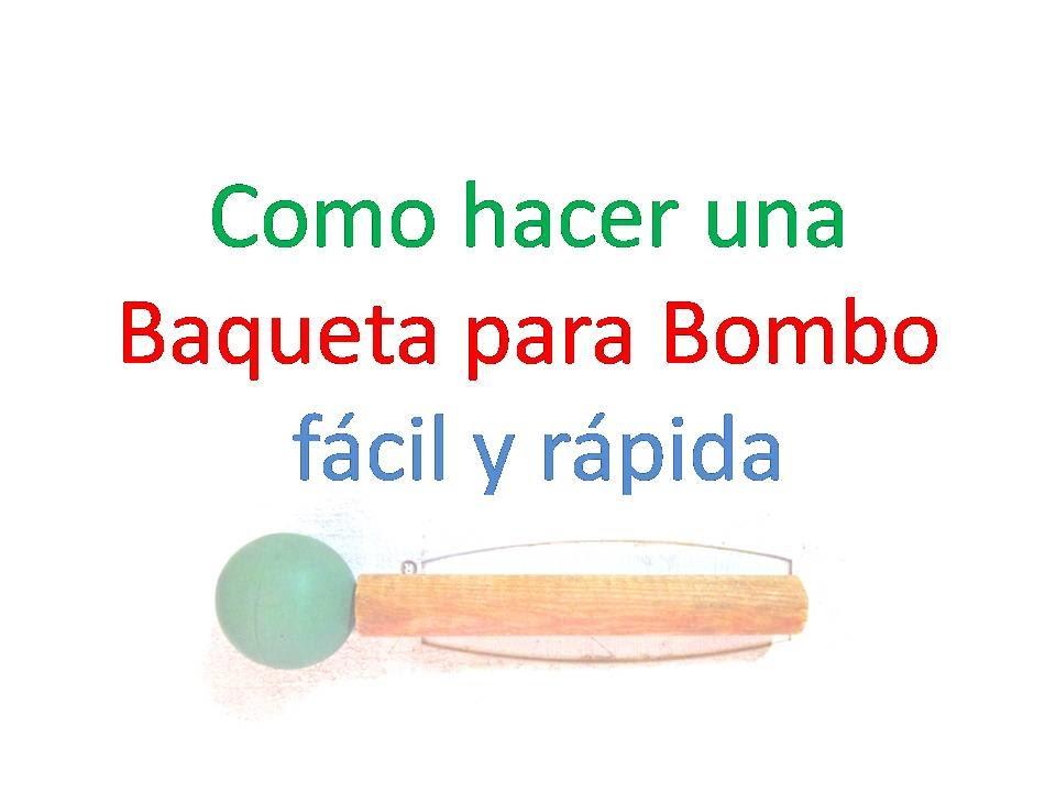 Menos De Bombo En Baqueta Has Goma 41 Con Para Tu Pelota Segundos lFcJTK13