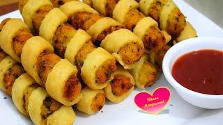 कुछ नया बनायें जो सबके मन को भाये  Potato Spiral Rolls   Easy Potato Rolls  Aloo Cutlet Recipe