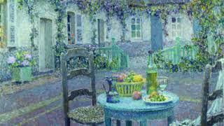 Henri Le Sidaner, La table bleue