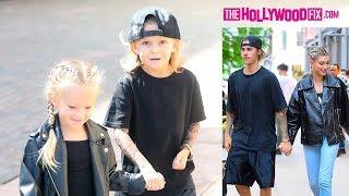 Mini Justin Bieber & Hailey Baldwin Dish On Their Upcoming Wedding & Prenup In Beverly Hills